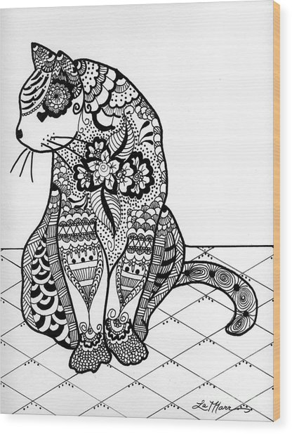 My Cat Wood Print