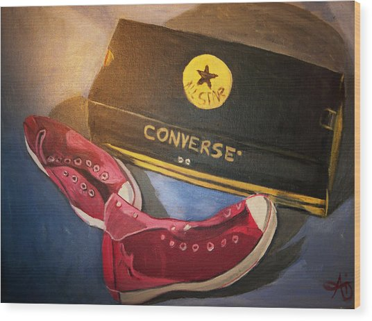 My Chucks - Pink Converse Chuck Taylor All Star - Still Life Painting - Ai P. Nilson Wood Print