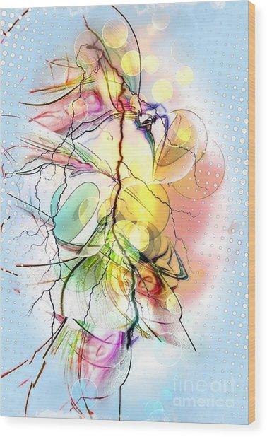 My Colors By Nico Bielow Wood Print