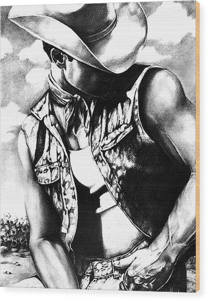 My Cowboy Man Wood Print