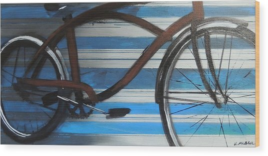 My Cruiser Wood Print by Vivian Mora