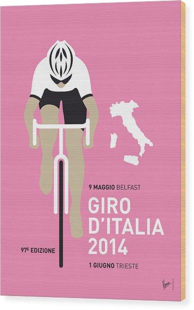 My Giro D Italia Minimal Poster 2014 Wood Print