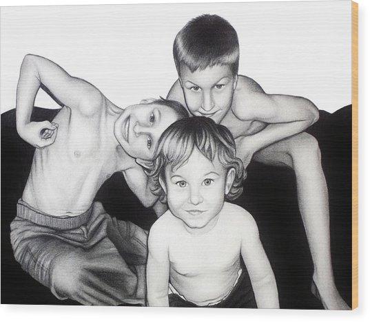 My Guys In 2010 Wood Print