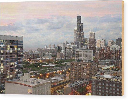 My Home Town Chicago Wood Print