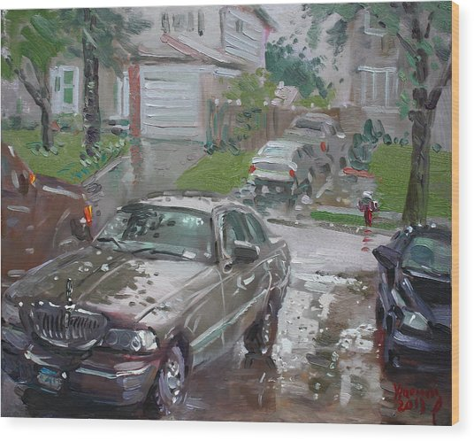 My Lincoln In The Rain Wood Print