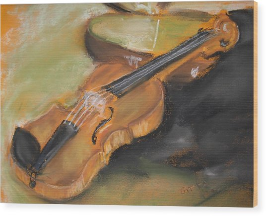 My Lttle Violin Wood Print