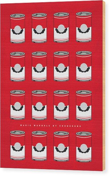 My Mario Warhols Minimal Can Poster-mario-2 Wood Print
