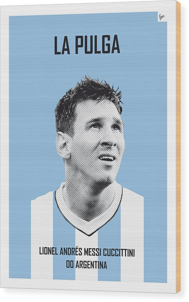My Messi Soccer Legend Poster Wood Print