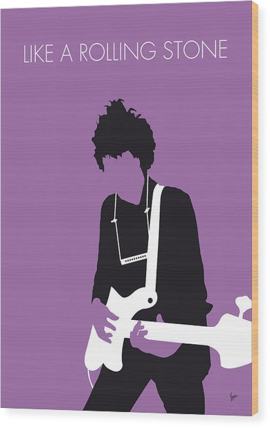 No001 My Bob Dylan Minimal Music Poster Wood Print