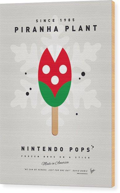 My Nintendo Ice Pop - Piranha Plant Wood Print