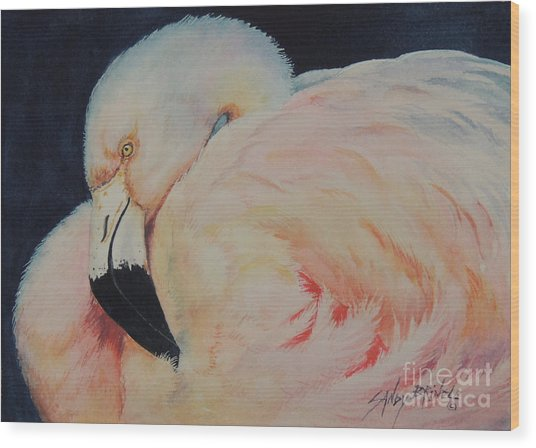 My Pink Flamingo...sold  Wood Print