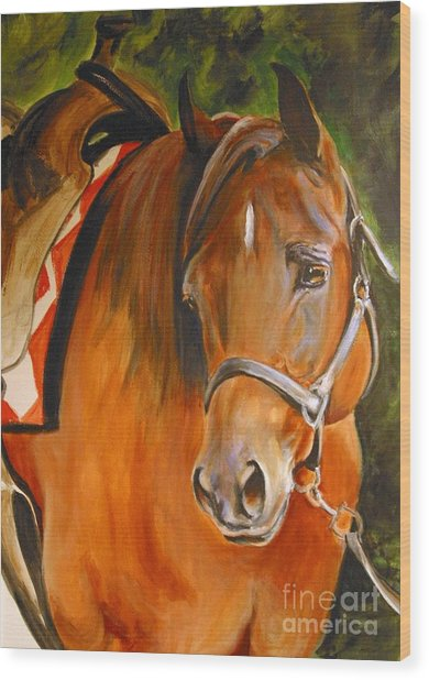 My Quarter Horse Wood Print