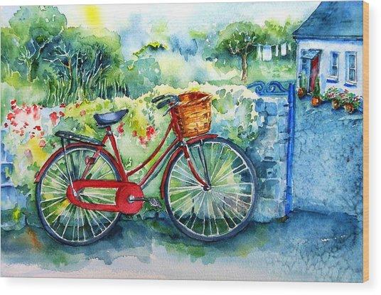 My Red Bicycle Wood Print
