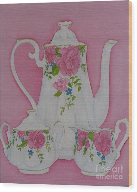 My Royal Doulton  English Rose Teaware Wood Print
