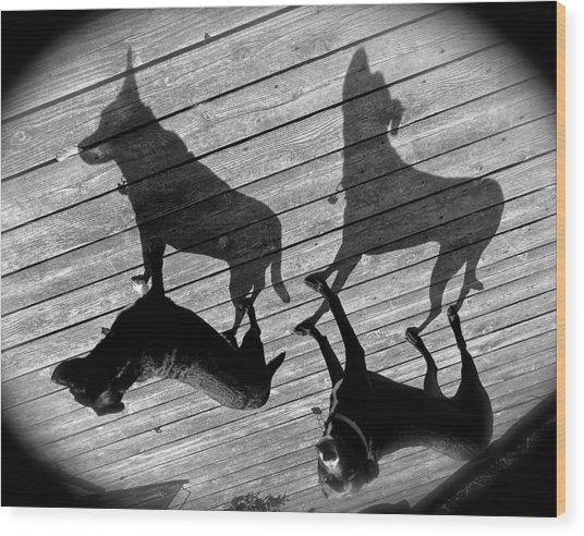 My Shadows Wood Print