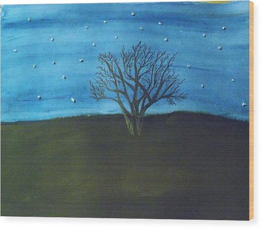 My Starry Sky Wood Print
