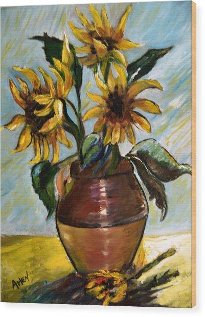 My Sunflowers Wood Print