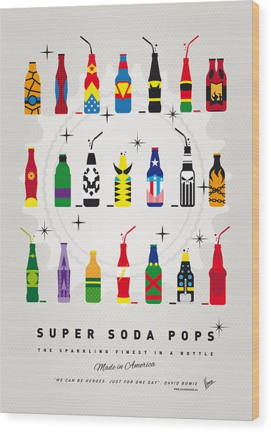 My Super Soda Pops No-00 Wood Print