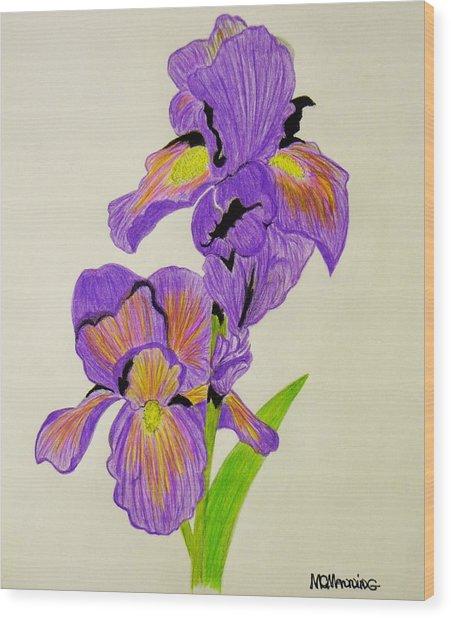 My Sweet Iris Wood Print