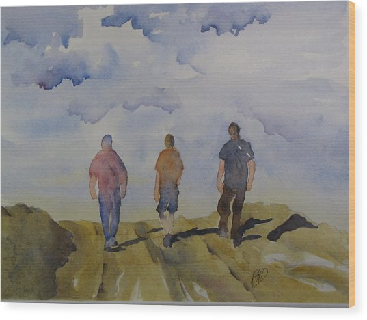 My Three Boys Wood Print by Ramona Kraemer-Dobson