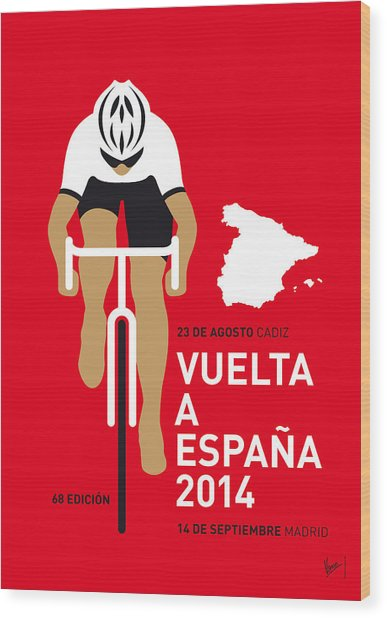 My Vuelta A Espana Minimal Poster 2014 Wood Print