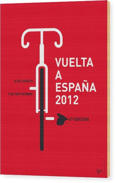 My Vuelta A Espana Minimal Poster Wood Print