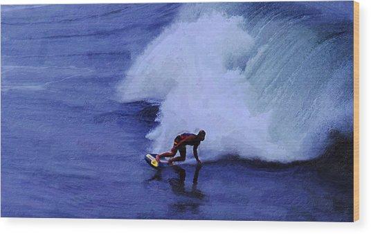 My Wave Wood Print by Ron Regalado