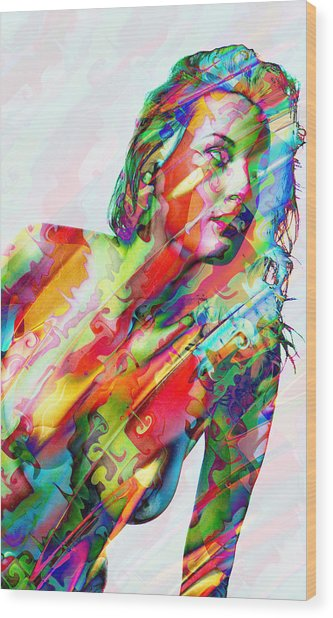 Myriad Of Colors Wood Print