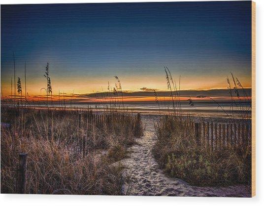 Myrtle Beach Path Wood Print