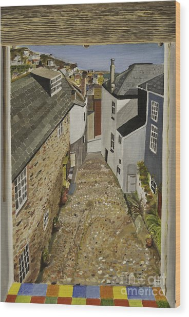 Myrtle Cottage View Wood Print