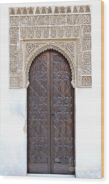 Myrtle Doorway Wood Print