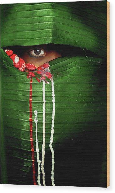 Mysterious Eye Wood Print by Adithya Zen