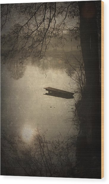 Mysterious Morning Wood Print