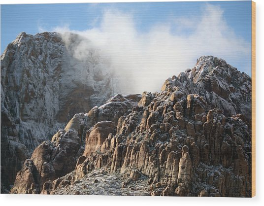 Mysterious Mountain Wood Print