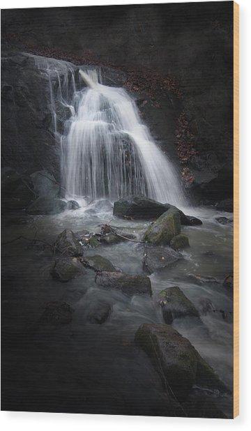 Mysterious Waterfall Wood Print