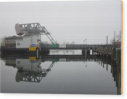 Mystic Ct Drawbridge Wood Print
