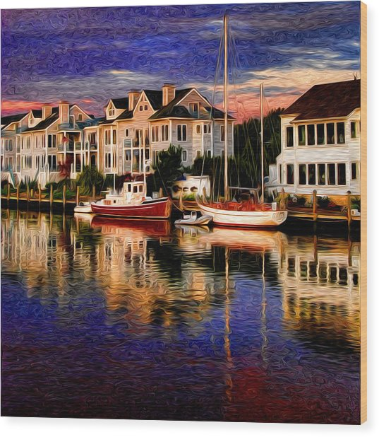 Mystic Ct Wood Print