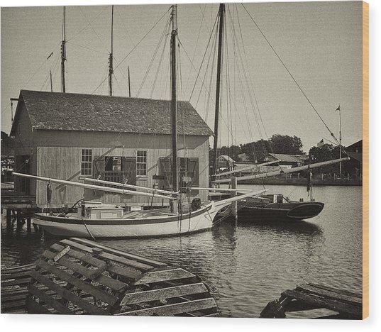 Mystic Dock Wood Print