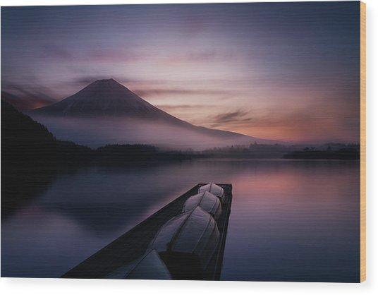 Mystic Fuji Wood Print by Gerald Macua