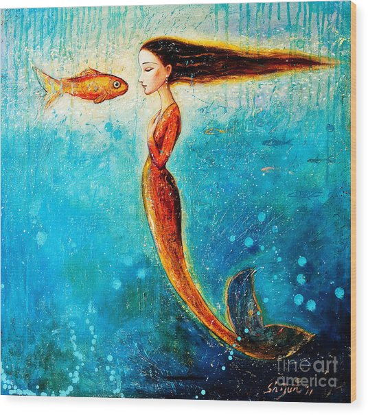 Mystic Mermaid II Wood Print
