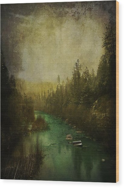 Mystic River Wood Print