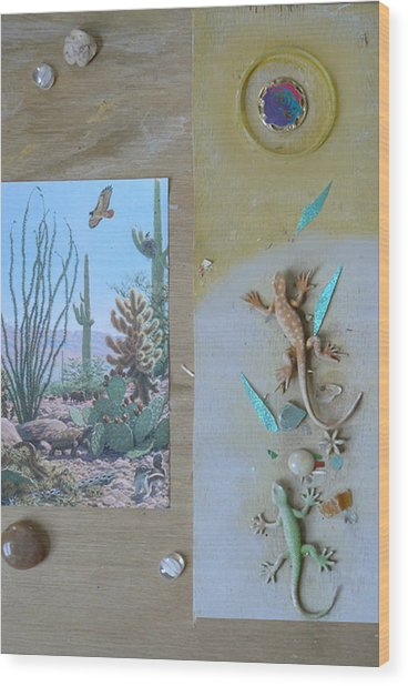 Mystical Desert  C Wood Print by Mary Ann  Leitch