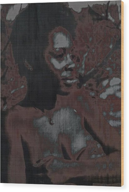 Mywoman Wood Print by Anthony Lewis