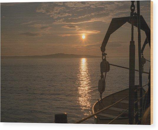 Sunset On Bar Harbor Wood Print by Pro Shutterblade
