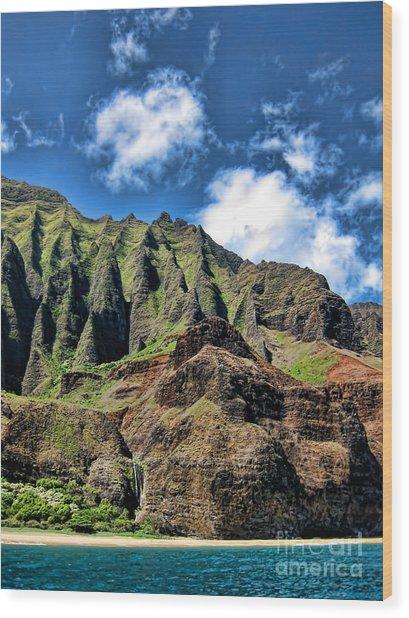 Na Pali Coast 1 Wood Print by Baywest Imaging
