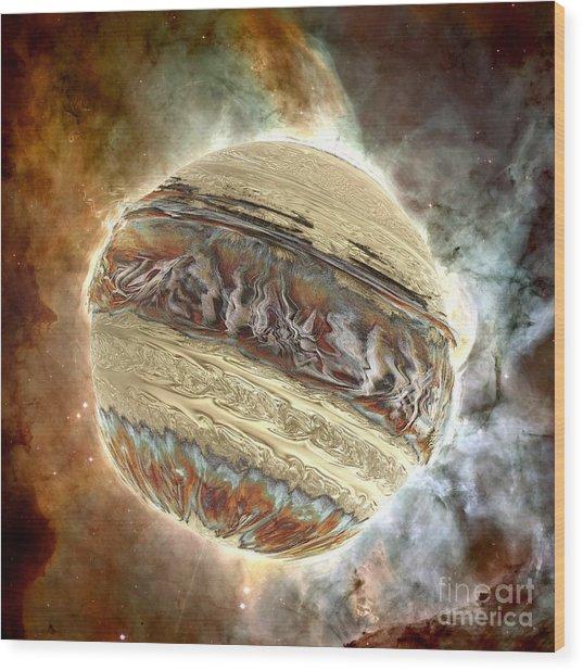 Nacre Planet Wood Print by Bernard MICHEL