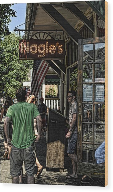 Nagle's Apothecary Cafe Wood Print