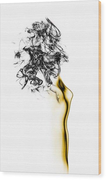 Naked 2 Wood Print