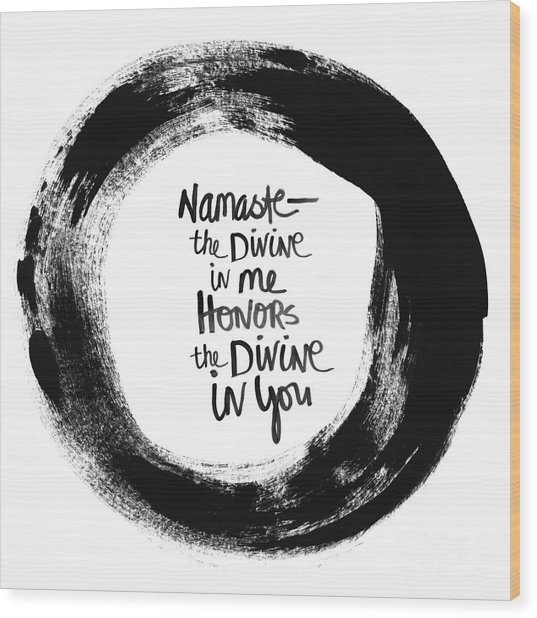 Namaste Enso Wood Print