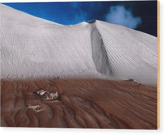 Nambung Desert Floor Wood Print
